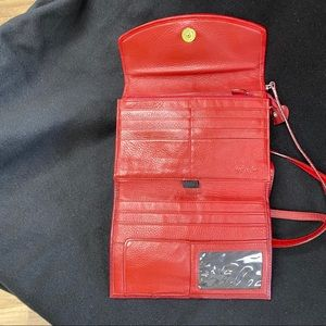 Brighton Bags - BRIGHTON RED LEATHER CROSSBODY BAG
